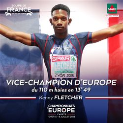 Kenny FLETCHER  Vice champion d'Europe cadet du 110m haies